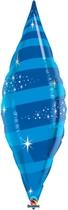 "Sapphire Blue 38"" Foil Taper Swirl"