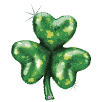 "St Patrick's Day Shamrock Holographic 35"" Foil Balloon"