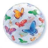 "Butterflies Bubble Balloon 22"""