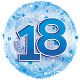 "18th Birthday Blue 24"" Clearview Balloon"