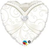 "18"" Heart Shaped Wedding Gown Foil Balloon"