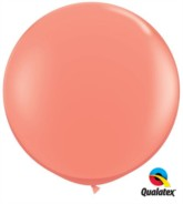 Coral Round 3ft Latex Balloons 2pk