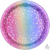 Rainbow Ombre 23cm Paper Plates 8pk