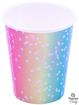 Rainbow Ombre Paper Cups 8pk