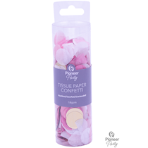 Pink, White & Gold Tissue Confetti 18g