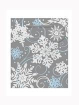 Christmas Whimsical Snowflake Mini Gift Bag