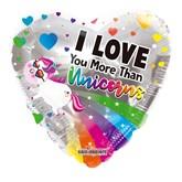 "I Love You More Than Unicorns 18"" Foil Balloon"