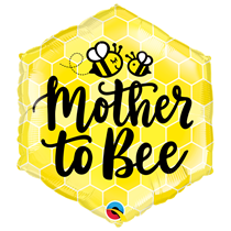 """Mother to Bee 20"""" Hexagon Foil Balloon"""