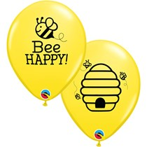 "Bee Happy 11"" Latex Balloons 25pk"