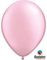"""11"""" Pearl Pink Latex Balloons 6pk"""