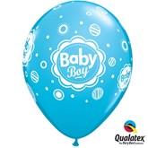 "Baby Boy Dots 11"" Latex Balloons 6pk"