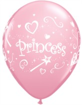 Pink Princess Latex Balloons 6pk