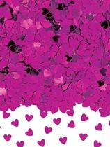 Hot Pink Sparkle Hearts Metallic Confetti 14g