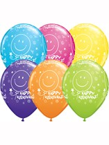 "Asstd Colour Retirement 11"" Latex Balloons 25pk"