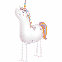Smiling Unicorn Balloon Friends Foil Balloon