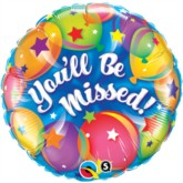 "18"" You'll Be Missed Foil Balloon"