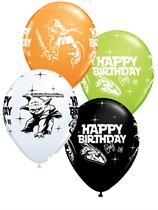 "Star Wars Happy Birthday 11"" Latex Balloons 25pk"
