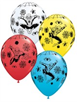 "Assorted Spiderman 11"" Latex Balloons 25pk"