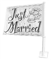 'Just Married' Car Flag