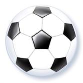 """Football Shaped Bubble Balloon 22"""""""