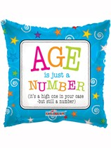 """Age is Just a Number 18"""" Birthday Foil Balloon"""