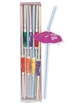 25 Luau Umbrella Straws