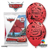 "Disney Cars 11"" Latex Balloons 6pk"