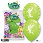 "Disney Fairies 11"" Latex Balloons 6pk"