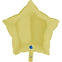 """Pastel Matte Yellow 18"""" Star Foil Balloon"""