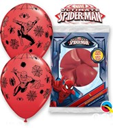 "Spiderman 11"" Latex Balloons 6pk"