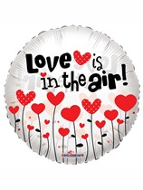 "Love is in the Air Clear View 18"" Valentine's Day Balloon"