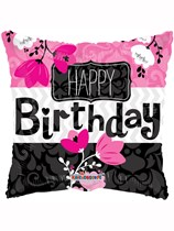 """Happy Birthday Pink Square Foil Balloon 18"""""""