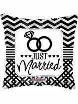 "Just Married 18"" Square Foil Balloon"