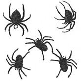 Halloween Glitter Spider Cut Outs 9pk