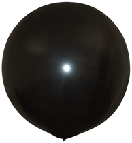 "Metallic Black 20"" Latex Balloons 10pk"