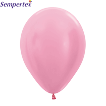 "Sempertex Satin Pink 12"" Latex Balloons 50pk"