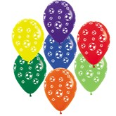 Asst.Colour Football Latex Balloons 25pk