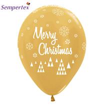"Sempertex - Gold Merry Christmas 12"" Latex Balloons 25pk"