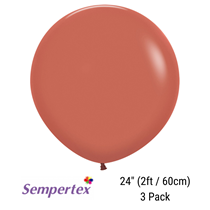 "Sempertex Terracotta 24"" (2ft) Latex Balloons 3pk"