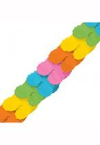 Rainbow Paper Garland 12ft
