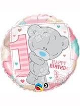 "Tiny Tatty Teddy Pink 1st Birthday 18"" Foil Balloon"