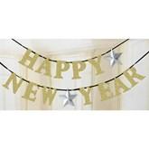 Happy New Year Glitter Letter Banner 3.6M