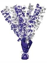 """Purple Birthday Glitz Age 40 Foil Balloon Weight Centrepiece 16.5"""""""