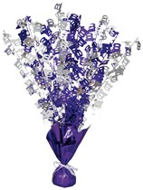 Purple Birthday Glitz Age 100 Foil Balloon Weight Centrepiece 16.5""