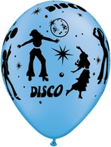 "Neon Assorted Disco 11"" Latex Balloons 25pk"