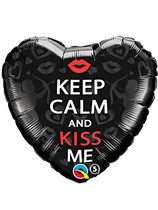 "Valentine's Day Keep Calm and Kiss Me 18"" Foil Balloon"