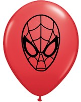 "5"" Spiderman Latex Balloons 100pk"