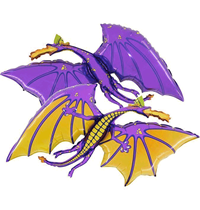 "Purple Dragon 36"" Foil Balloon"