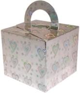 Balloon Weight/Gift Boxes Silver Holo Hearts - 10pk