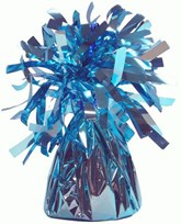 Light Blue 6oz Foil Tassel Balloon Weight